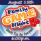Family Game Night in August!