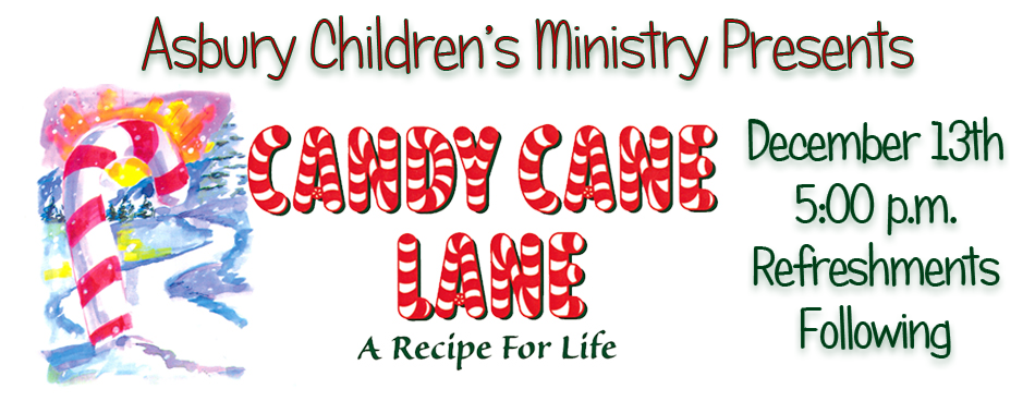 AUMC Children Present Candy Cane Lane Dec 13th @ 5pm.
