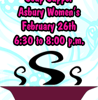 Asbury Women's Soup Supper February 26th.