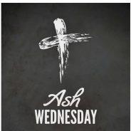 Ash Wednesday Service @ 6:00 p.m.