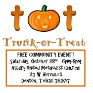 10-28 @ 6PM | Trunk or Treat @ Asbury