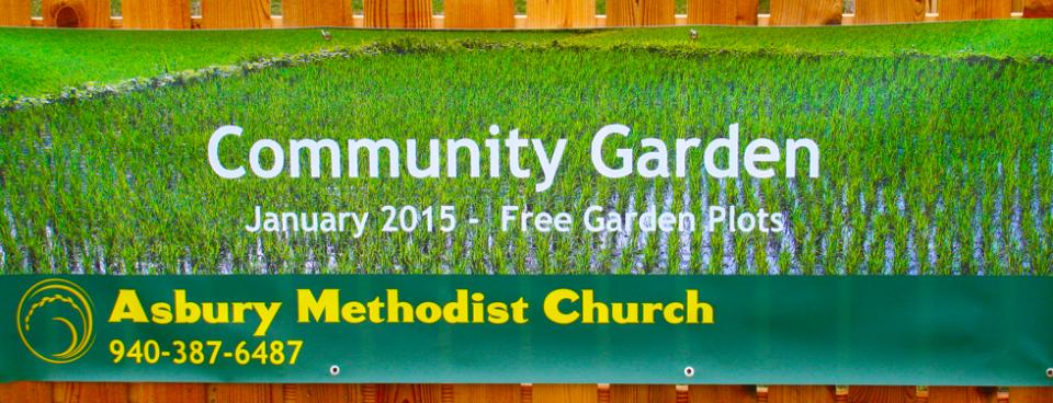 Coming in 2015 Asbury Community Garden